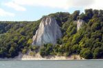 Jasmund chalk cliffs Caption: Chalk cliffs with protruding rock